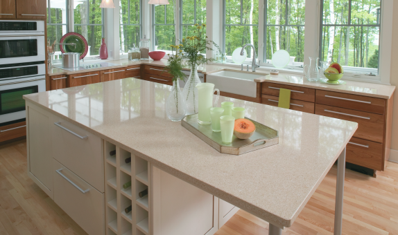 Cardiff Cream Quartz installed by Florida Granite